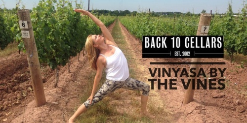 Yoga at Back 10 Cellars with Vinyassa by the Vines